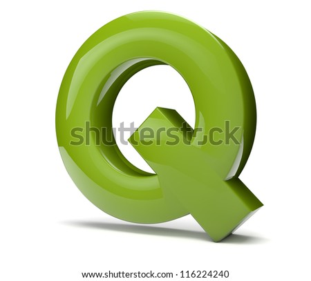 render of the text Q
