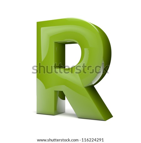 render of the text R