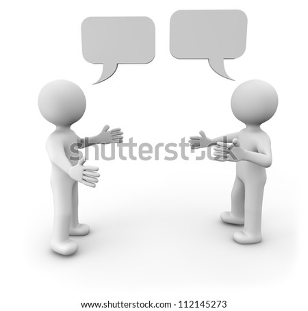 render of two man talking