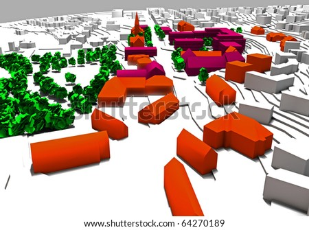 Rendered city plan 4