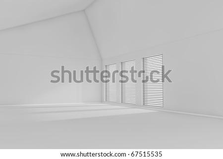 Rendered 3d empty room
