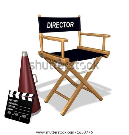 Rendered director's equipment