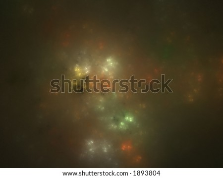 rendered fractal picture of star dust