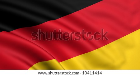 Rendered german flag