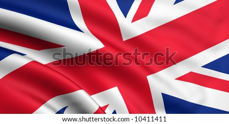 Rendered great britain flag