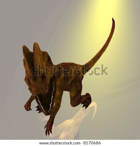 Rendered Image of a Dinosaur - with Clipping Path