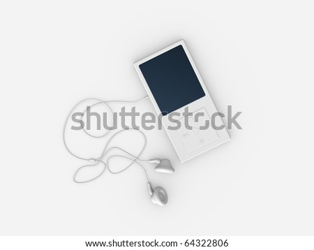 rendered, isolated object / Mp3 Player