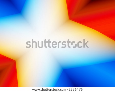 Rendered red, white and blue image