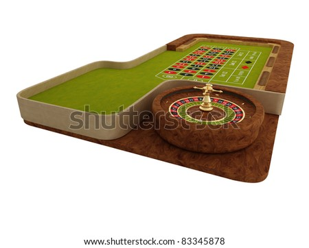 Rendered roulette table over