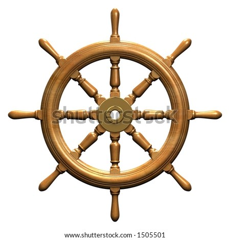 Rendered Ships Wheel Stock Photo 1505501 : Shutterstock