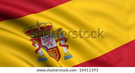 Rendered spain flag