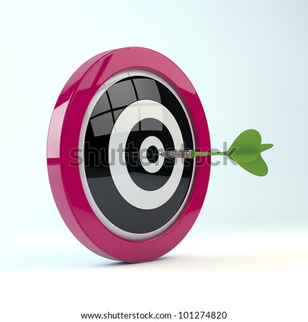 rendering of a dtarget isolated on white