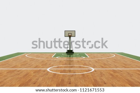 rendering of basketball arena background