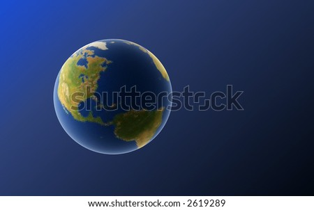 rendering of the Earth in space