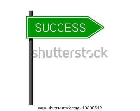 rendition of success sign isolated against white background