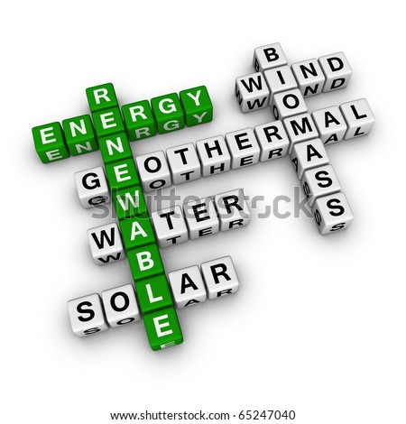renewable energy cubes crossword