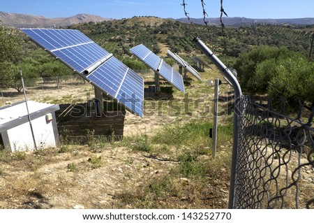 Renewable energy through solar cells in the mountain regions in Crete