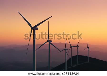 renewable energy with wind...