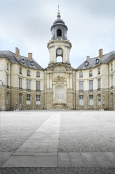 Rennes City Hall. The square city hall of Rennes, Brittany-France, on the old town square.
