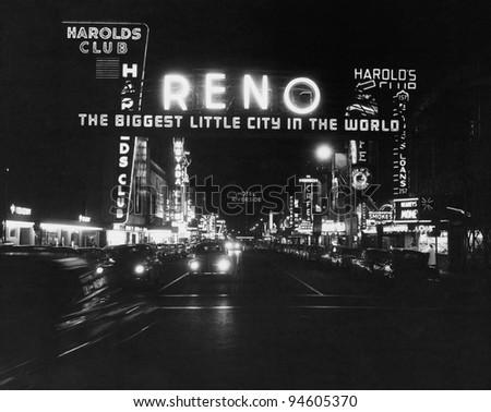 Reno Nevada, circa 1950s