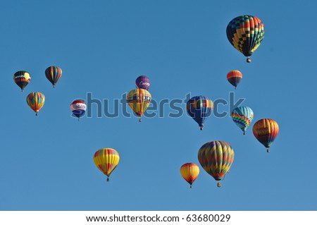 RENO, NEVADA USA - SEPTEMBER 11: The Great Reno Balloon Race on September 11 2010, in Reno Nevada. It is the largest free hot air ballooning event in the nation.