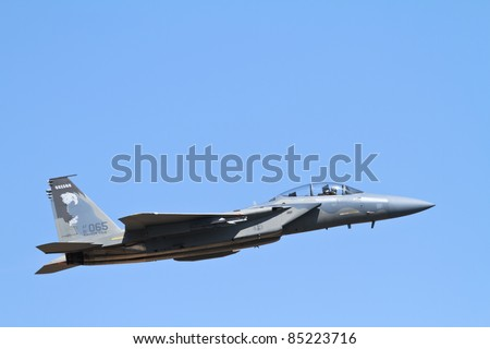 RENO, NV - SEPTEMBER 15: The US Air Force does a flight demonstration during the annual Air Races on September 15, 2011 in Reno, Nevada