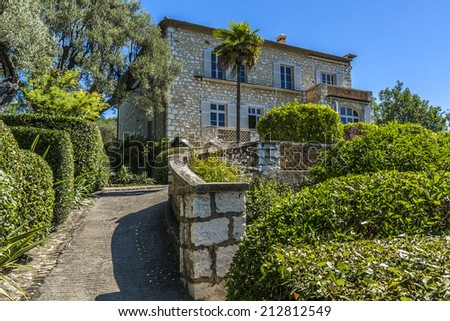 Renoir Museum in Cagnes-sur-Mer. Cagnes-sur-Mer - commune of Alpes-Maritimes department in Provence Alpes - Cote d'Azur region, France. Cagnes-sur-Mer located between Nice and Cannes.