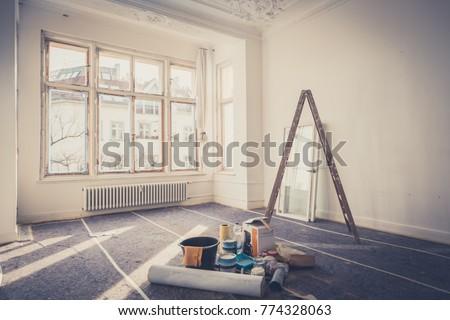 renovation concept - room  during restoration