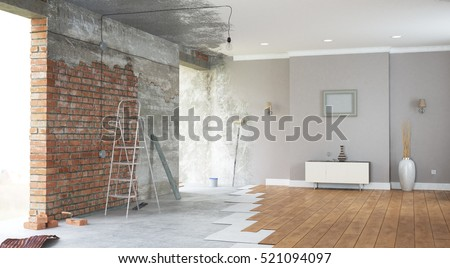 Renovation interior. 3D render #521094097