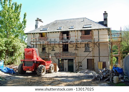 renovation of old building - stock photo