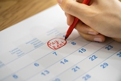Rent Pay Due Date In Calendar Or Diary