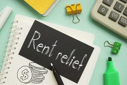 Rent relief is shown on the business photo using the text