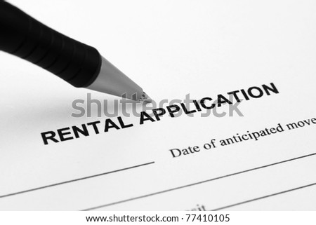 Rental application - stock photo