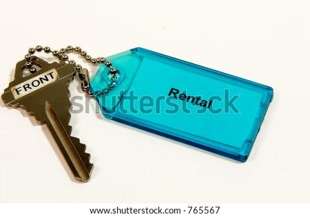 Rental Key isolated on white background