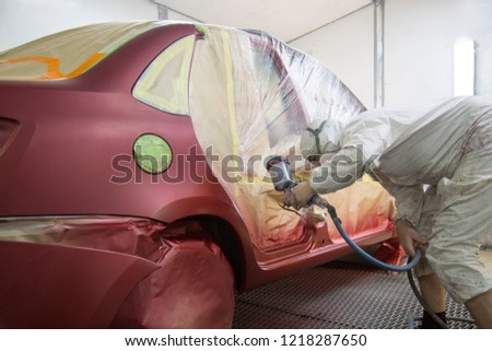 Repair and painting car car mechanic #1218287650