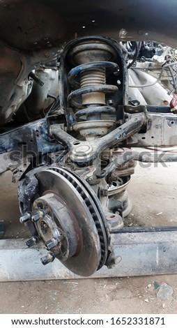 Repair car disc brakes, Disc brakes of car.