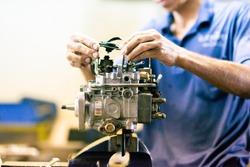 repair diesel fuel pump Mechanic diesel fuel pump