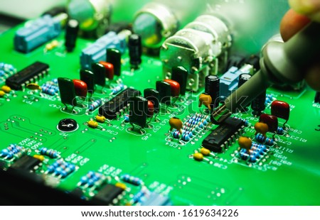 Repair electronic equipment and electronic boards, background images