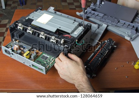 Repair Laser Printer - stock photo