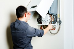 Repair of a gas boiler