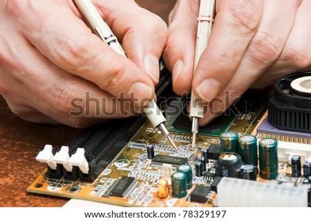 Repair of computers and electronic metering parameters