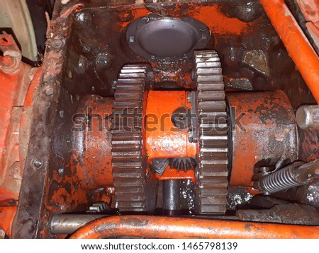 Repair of the gearbox in an old tractor. Transmission and transmission modes. #1465798139