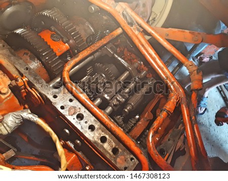 Repair of the gearbox in an old tractor. Transmission and transmission modes. #1467308123