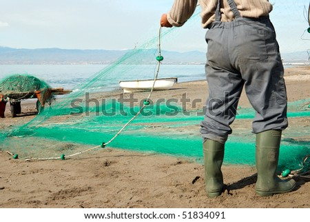 Repairing fishing nets