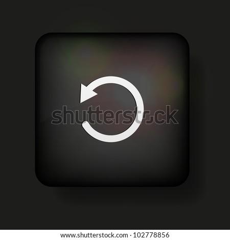 repeat icon on black