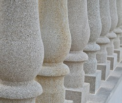 Repeating stone columns