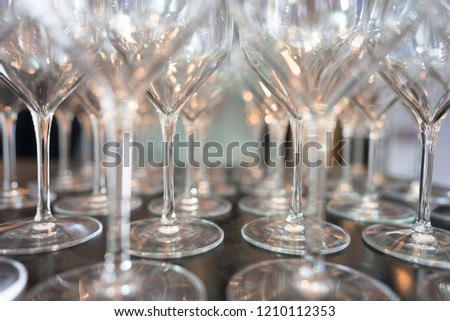 repetition of wine glass reflection and glamour. endless night of a classy party #1210112353