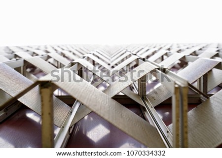 Repetitive iron structure pattern with triangular feel. #1070334332