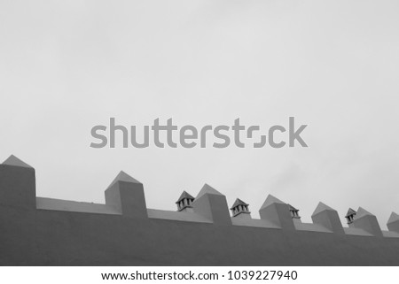 repetitive shape over a wall #1039227940