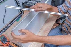 Replacing faulty backlight lamps. LCD monitor repair